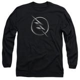 The Flash Zoom Logo Adult Long Sleeve T-Shirt Black