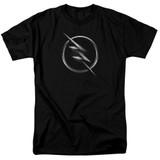 The Flash Zoom Logo Adult 18/1 T Shirt Black