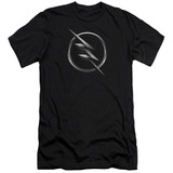 The Flash Zoom Logo Adult 30/1 T-Shirt Black