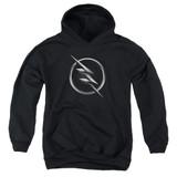 The Flash Zoom Logo Youth Pullover Hoodie Sweatshirt Black