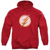 The Flash Season 4 Logo Adult Pullover Hoodie Sweatshirt Red