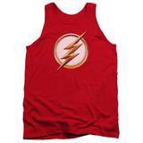 The Flash Season 4 Logo Adult Tank Top T-Shirt Red