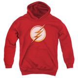 The Flash Season 4 Logo Youth Pullover Hoodie Sweatshirt Red