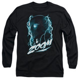 The Flash Zoom Adult Long Sleeve T-Shirt Black