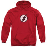 The Flash Jesse Quick Logo Adult Pullover Hoodie Sweatshirt Red