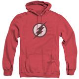 The Flash Jesse Quick Logo Adult Heather Hoodie Sweatshirt Red