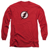 The Flash Jesse Quick Logo Adult Long Sleeve T-Shirt Red