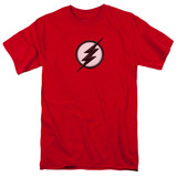The Flash Jesse Quick Logo Adult 18/1 T Shirt Red