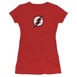 The Flash Jesse Quick Logo Junior Women's T-Shirt Red