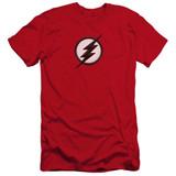 The Flash Jesse Quick Logo Premium Adult 30/1 T-Shirt Red