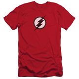 The Flash Jesse Quick Logo Adult 30/1 T-Shirt Red