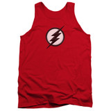 The Flash Jesse Quick Logo Adult Tank Top T-Shirt Red