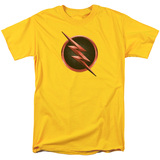 The Flash Reverse The Flash Logo Adult 18/1 T Shirt Yellow