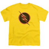 The Flash Reverse The Flash Logo Youth T-Shirt Yellow