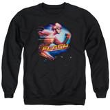 The Flash Fastest Man Adult Crewneck Sweatshirt Black