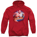 The Flash Fastest Man Adult Pullover Hoodie Sweatshirt Red