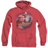The Flash Fastest Man Adult Heather Hoodie Sweatshirt Red