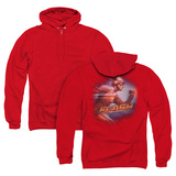 The Flash Fastest Man (Back Print) Adult Zipper Hoodie Sweatshirt Red