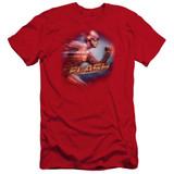 The Flash Fastest Man Premuim Canvas Adult Slim Fit 30/1 Red