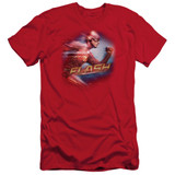 The Flash Fastest Man Adult 30/1 T-Shirt Red