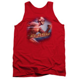 The Flash Fastest Man Adult Tank Top T-Shirt Red