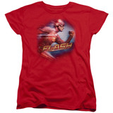 The Flash Fastest Man Women's T-Shirt Red