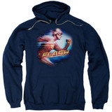 The Flash Fastest Man Adult Pullover Hoodie Sweatshirt Navy