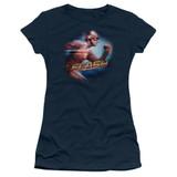 The Flash Fastest Man Junior Women's T-Shirt Navy