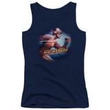 The Flash Fastest Man Junior Women's Tank Top T-Shirt Navy