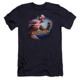 The Flash Fastest Man Premuim Canvas Adult Slim Fit 30/1 Navy
