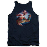The Flash Fastest Man Adult Tank Top T-Shirt Navy