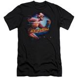 The Flash Fastest Man Adult 30/1 T-Shirt Black