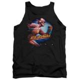 The Flash Fastest Man Adult Tank Top T-Shirt Black