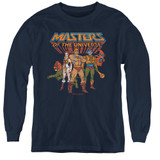 Masters Of The Universe Team Of Heroes Youth Long Sleeve T-Shirt Navy