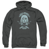 Masters Of The Universe He Man Adult Pullover Hoodie Sweatshirt Charcoal