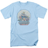 Masters Of The Universe He Man And Crew Adult T-Shirt Light Blue