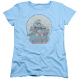 Masters Of The Universe He Man And Crew Women's T-Shirt Light Blue