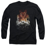 Lord of the Rings Evil Rising Adult Long Sleeve T-Shirt Black