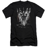 Lord of the Rings Big Sauron Head Premium Canvas Adult Slim Fit 30/1 T-Shirt Black
