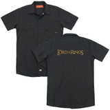 Lord of the Rings Lotr Logo (Back Print) Adult Work Shirt Black