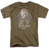 Lord of the Rings Bilbo Baggins Adult 18/1 T-Shirt Safari Green
