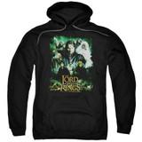 Lord Of The Rings Hero Group Adult Pullover Hoodie Sweatshirt Black