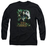 Lord Of The Rings Hero Group Adult Long Sleeve T-Shirt Black