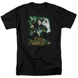 Lord Of The Rings Hero Group Adult 18/1 T-Shirt Black