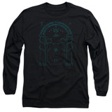 Lord Of The Rings Doors Of Durin Adult Long Sleeve T-Shirt Black