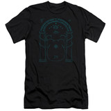 Lord Of The Rings Doors Of Durin Adult 30/1 T-Shirt Black