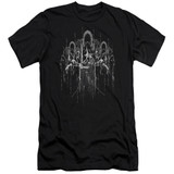 Lord Of The Rings The Nine Premium Adult 30/1 T-Shirt Black