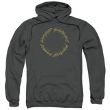 Lord Of The Rings One Ring Adult Pullover Hoodie Sweatshirt Charcoal