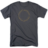 Lord Of The Rings One Ring Adult 18/1 T-Shirt Charcoal