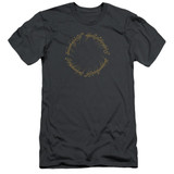 Lord Of The Rings One Ring Premium Adult 30/1 T-Shirt Charcoal